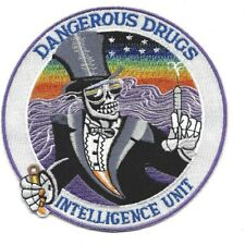 "4.5"" DEA DRUG  INTELLIGENCE UNIT DANGEROUS DRUGS EMBROIDERED PATCH"