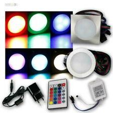 "Set LED Bode-Einbauleuchten "" Fine RGB, Stainless Steel Brushed Spotlights"