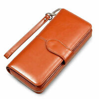 Women Wallet Leather Money Card Clamps Coin Purse Holder Clip Clutch Cash Female
