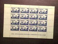 US Stamp Sheet 1976 COLORADO CENTENNIAL 100th Anniversary-MNH-OG-FREE SHIP