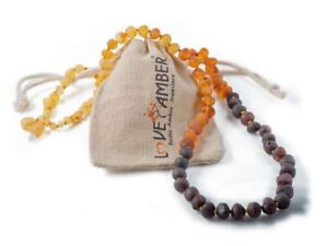 Kids Child Ombre Raw Rainbow Baltic Amber Necklace Love Amber x 100% Genuine UK
