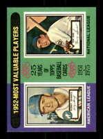 1975 Topps #190 Bobby Shantz/Hank Sauer NM/NM+ 1952 MVP's 509461