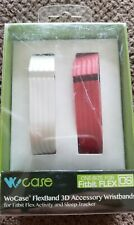 Wocase - Flexband 3d Accessory Wristbands For Fitbit Flex White/red