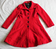 Laura Ashley Women's Ladies Red Coat Jacket Size 10 Good Used Condition