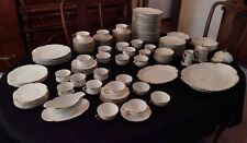 antique fine Austrian china 142 piece dinner ware set with serving dishes