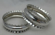 Pair Vintage Solid Sterling Silver English Napkin Rings 1901 (606-6-VKY)