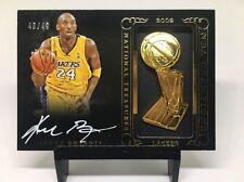 2014-15 National Treasures NBA CHAMPIONS Kobe Bryant Lakers AUTO 46/49 NICE