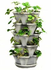 Mr. Stacky 5 Tier Stackable Strawberry, Herb, Flower, and Vegetable Planter -