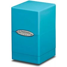 Ultra Pro Deckbox Satin Tower C6 Card Game Light Blue