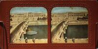 Parigi Pont E Place Da La Concorde Foto Diorama Stereo Vintage Albumina Ca 1860