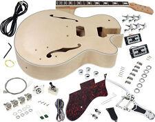 Solo GF Style DIY Guitar Kit, Maple Hollow Body, Rosewood FB, Vintage Tremolo