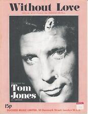 Without Love - Tom Jones - 1962 Sheet Music