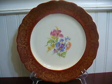 """Keystone Cannonsburg Pottery Co Porcelain Pink Tulip Bouquet 10"""" Dinner Plate"""