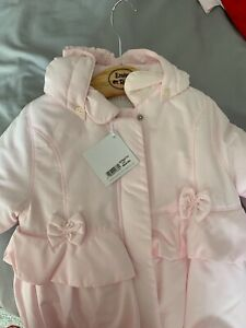 emile et rose baby girl new coat, pink, 18 months, 2 years, boutique,