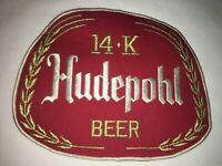 Large Vintage Hudepohl 14K Beer Uniform Patch Unused Condition NOS Rare