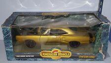 1/18 ERTL AMERICAN MUSCLE 1969 DODGE SUPER BEE GOLD rd