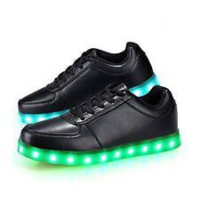 LED Luminous Light Up Shoes Black US Women Size 5 Rechargeable Party Shoes