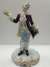 Capodimonte San Marco Figurine 18th Century Man Crown N Italy