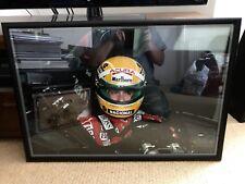 AYRTON SENNA McLaren 1990 SIGNED HUGE Photograph FORMULA ONE 1 GRAND PRIX F1