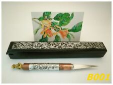 Carving Fruit Vegetable Knife Thai Art Brass knives Brass Stainless Freeship