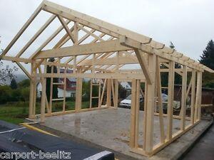 Holzgarage - Calw - für Hebebüne, Satteldach KVH 7,00 x 7,00 m als Bausatz