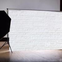 1,5x2,1 m Fotohintergrund Hintergrund Weiß Ziegelwand Background Foto Studio Neu