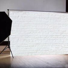 7x5FT White Brick Wall Vinyl Studio Photography Backdrop Photo Background New