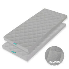 "Waterproof Cradle Mattress Pad Bamboo Cover Standard Cradle 2 Pack 36""x18"" Gray"