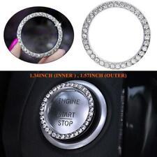 Car Engine Start Stop Start Engine Ignition Button Decor Bling Diamond Ring Trim
