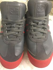 Adidas Samoa Size 8.5 Men Shoes Grey And Red