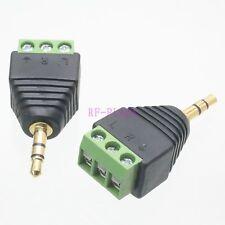 10pcs Adapter 3.5mm stereo male plug AV Screw Video Balum Terminal