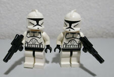2) Clone Troopers Blasters White Star Wars Lot 10195 LEGO Minifigure Figure fig