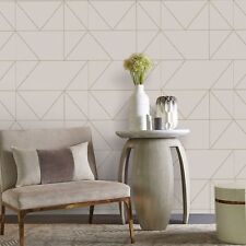 Kelly Hoppen Graham & Brown Geo Taupe Khaki 103005 Wallpaper