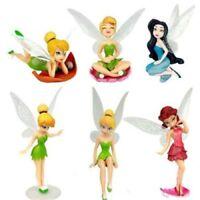 Tinkerbell Cake Figure Topper Toy Fairy Princess Cake Decorations Disney Fairies