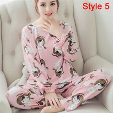 Women Pajamas Sets Long Sleeve Lovely Cartoon Sleepwear Girls Nightgown Suits JD XL 3