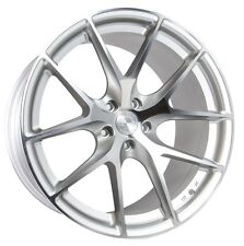 20x9/10.5 AodHan LS007 5X114.3 +30/35 Silver Rims Fits Ford Mustang S550 S197