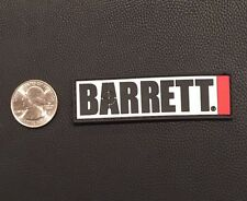 Barrett Firearms Manufacturing Rubber Logo Patch Velcro NRA .50 Caliber Rifle