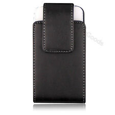 New Black Vertical Genuine Leather Case Belt Clip Holster for Apple iPhone 4 4S
