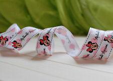 "1""&5/8"" (U pick) Minnie Printed Grosgrain Ribbon hair Bow 5/10/20 Yards"