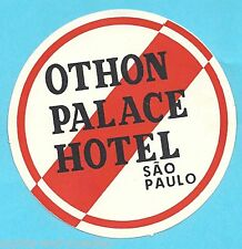 Authentic Vintage Luggage Label - Othon Palace Hotel - Sao Paolo
