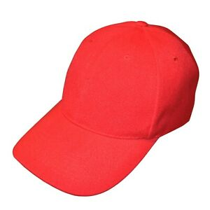 NEW Mens Red Adjustable Baseball Cap