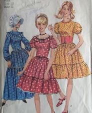 Vtg 60s Simplicity 6832 Sewing Pattern Square Dance Gypsy Costume Barmaid  Dress