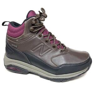 New Balance Trail Leather Walking Waterproof Hiking Boot Brown Women Size 6.5 2E