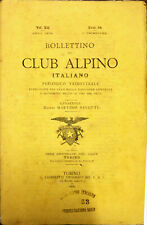 BOLLETTINO DEL CLUB ALPINO ITALIANO PERIODICO TRIMESTRALE - NUM. 34 - ANNO 1878