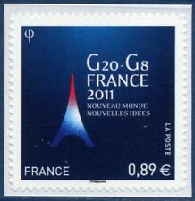 TIMBRE FRANCE AUTOADHESIF 2011 N° 0598 NEUF ** G8 - G20 FRANCE