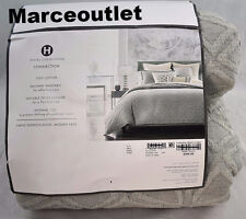 Hotel Collection Connection 100% Cotton KING Duvet Cover Gray