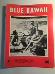 Elvis Presley Blue Hawaii Rare Collectable Sheet Music Book early 1960's