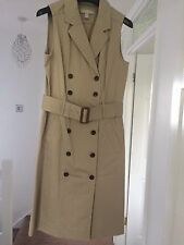 Femme Banana Republic Beige/Crème Trench/Costume Robe Style Taille 2 (8-10) RRP £ 120