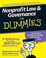 Nonprofit Law and Governance For Dummies by Welytok, Jill Gilbert, Welytok, Dan