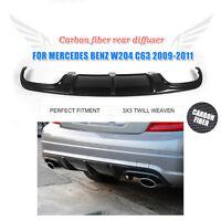 Carbon Fiber Rear Lip Diffuser Fit for Mercedes Benz W204 C63 AMG Bumper 09-11